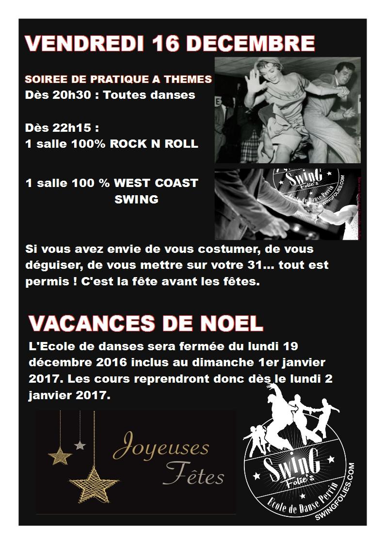 Vacances scolaires de noel swing folies - Vacances scolaires de noel 2016 ...