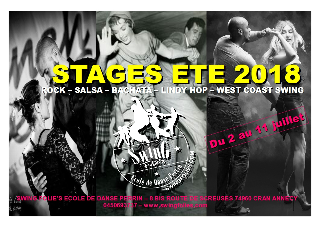 STAGES D'ETE 2018
