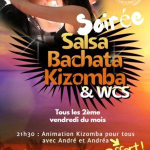 Soirée Salsa Bachata Kizomba+wcs 2ème vendredi du mois