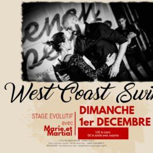 Stage et Soirée West Coast Swing Dimanche 1er Décembre