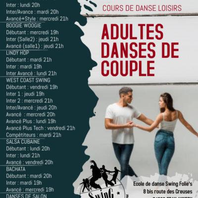 B – SPECIAL DANSES DE COUPLE