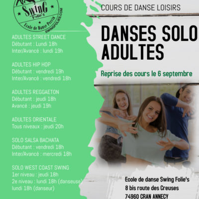B – SPECIAL ADULTES DANSES SOLO