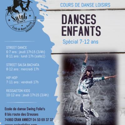 B – DANSES ENFANTS 7-12 ANS